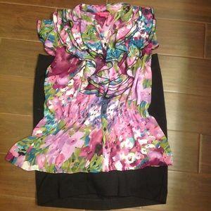 Liz Lange black pencil skirt Maternity Medium EUC